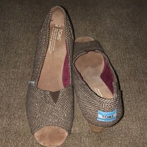 Toms woman's size 10 cork wedges